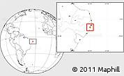 Blank Location Map of Ipojuca