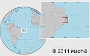 Gray Location Map of Ipojuca