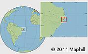 Savanna Style Location Map of Ipojuca