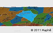 Political Panoramic Map of Itaiba, darken