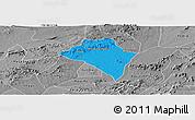 Political Panoramic Map of Itaiba, desaturated