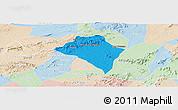 Political Panoramic Map of Itaiba, lighten