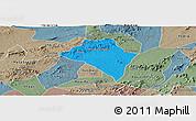 Political Panoramic Map of Itaiba, semi-desaturated