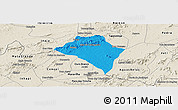 Political Panoramic Map of Itaiba, shaded relief outside