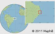 Savanna Style Location Map of Jaboatao
