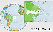 Political Location Map of Limoeiro, highlighted parent region