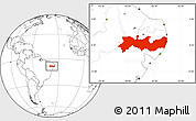 Blank Location Map of Pernambuco