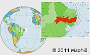 Political Location Map of Pernambuco