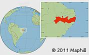 Savanna Style Location Map of Pernambuco