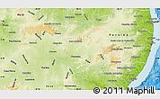 Physical Map of Pernambuco