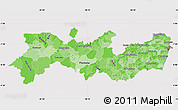 Political Shades Map of Pernambuco, cropped outside
