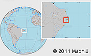Gray Location Map of Moreno