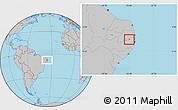 Gray Location Map of Orobo