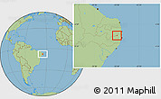 Savanna Style Location Map of Orobo