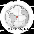 Outline Map of Pernambuco