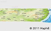 Physical Panoramic Map of Pernambuco