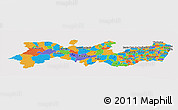 Political Panoramic Map of Pernambuco, cropped outside