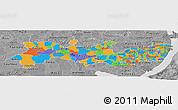 Political Panoramic Map of Pernambuco, desaturated