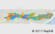 Political Panoramic Map of Pernambuco, lighten