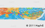Political Panoramic Map of Pernambuco, political shades outside