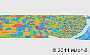 Political Panoramic Map of Pernambuco