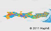 Political Panoramic Map of Pernambuco, single color outside