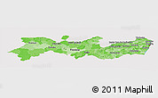 Political Shades Panoramic Map of Pernambuco, cropped outside