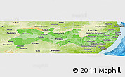 Political Shades Panoramic Map of Pernambuco, physical outside