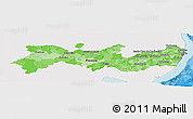 Political Shades Panoramic Map of Pernambuco, single color outside