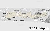 Shaded Relief Panoramic Map of Pernambuco, desaturated