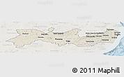 Shaded Relief Panoramic Map of Pernambuco, lighten