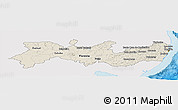 Shaded Relief Panoramic Map of Pernambuco, single color outside