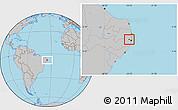 Gray Location Map of Paudalho