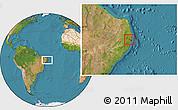 Satellite Location Map of Paudalho