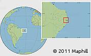 Savanna Style Location Map of Paudalho