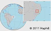 Gray Location Map of Pedra
