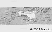 Gray Panoramic Map of Pesqueira