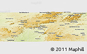 Physical Panoramic Map of Pesqueira