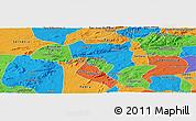 Political Panoramic Map of Pesqueira