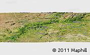 Satellite Panoramic Map of Pesqueira
