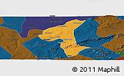 Political Panoramic Map of Petrolandia, darken