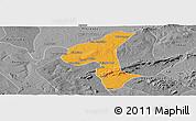 Political Panoramic Map of Petrolandia, desaturated