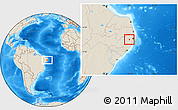 Shaded Relief Location Map of Pombos