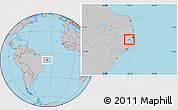 Gray Location Map of Primavera