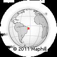 Outline Map of Ribeirao