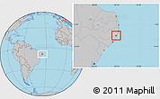 Gray Location Map of Rio Formoso