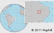 Gray Location Map of S. Dos Moreiras