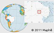 Political Location Map of S. Dos Moreiras, highlighted country