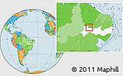 Political Location Map of S. Dos Moreiras, highlighted parent region