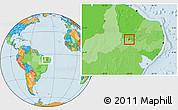 Political Location Map of S. Dos Moreiras